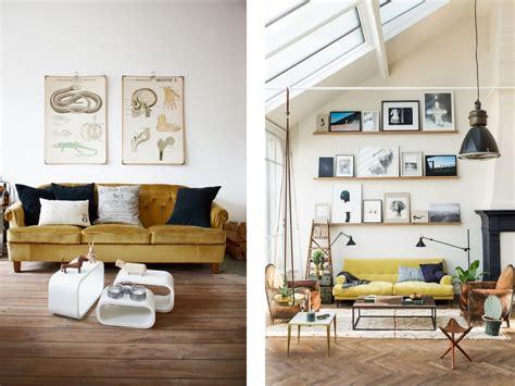 canapé jaune quelle déco pour un salon avec un canapé jaune