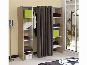 Armoire Avec Rideau : dressing extensible avec rideau vente de armoire ~ Melissatoandfro.com Idées de Décoration