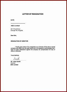 Resignation Letter Sample Format Gallery  letter format formal example