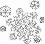 Snowflake Coloring Pages Printable Snowflakes Christmas sketch template