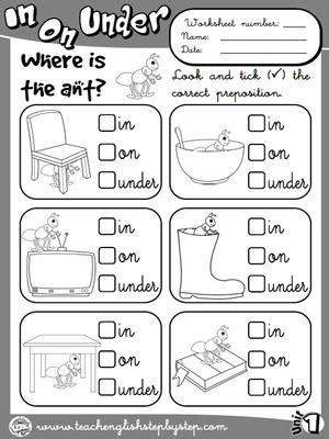 place prepositions worksheet 1 b w version teacher resources prepositions en ingles