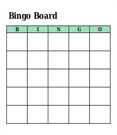 bingo card template word document bingo card template 8 free word pdf vector format