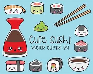 Premium Vector Clipart Kawaii Sushi Clipart Kawaii Sushi