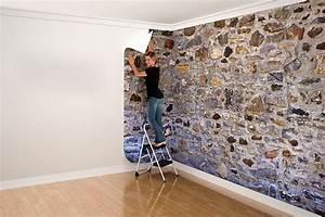 Papier Peint Imitation Pierre Naturelle : papier peint pierre pas cher ~ Nature-et-papiers.com Idées de Décoration