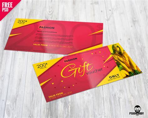 fashion gift voucher  psd psddaddycom
