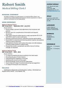 Medical Billing Manager Resume Medical Billing Clerk Resume Samples Qwikresume