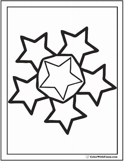 Coloring Stars Pages Star Circle Sheet Pdf