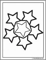 Coloring Stars Star Etoile Circle Nouveaux Populaires Sheet Pdf Printable sketch template