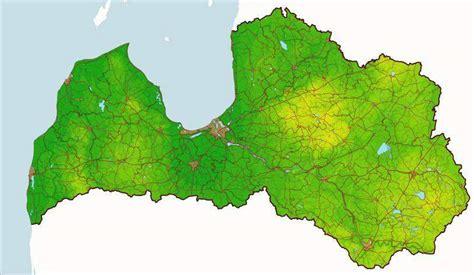 Latvija Fizgeogr • Mapsof.net