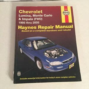 manual repair autos 2005 chevrolet monte carlo navigation system haynes repair manual 24048 chevrolet lumina monte carlo impala 1995 2005 38345240485 ebay