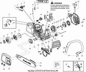 Poulan Pp4018 Poulan Pro Gas Saw Type 2 Parts Diagram For