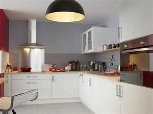 Meuble Cuisine Leroy Merlin : meubles blancs satines leroy merlin dans cuisine blanche ~ Melissatoandfro.com Idées de Décoration