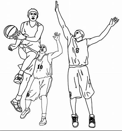 Basketball Coloring Nba Player Pages Drawing Assist