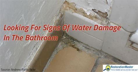 signs  water damage   bathroom