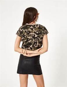 Tee Shirt Camouflage Femme : tee shirt basic camouflage kaki femme jennyfer ~ Nature-et-papiers.com Idées de Décoration