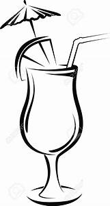 Black And White Cocktails Clipart (49+)