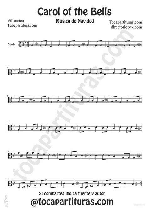 Odd eye arrangement from dystopia: tubescore: Carols of the Bells sheet music for Viola traditional Christmas Carol Music Score