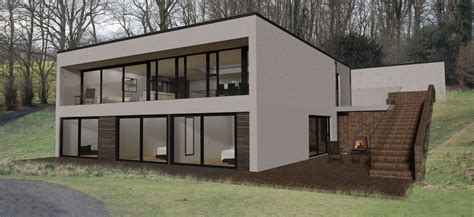 house plans  bedroom sloping site house plan