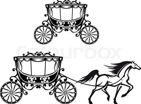 Pferd Mit Alten Kutsche