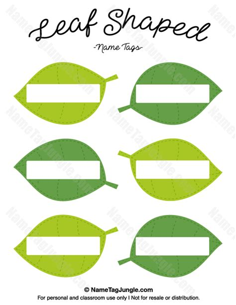 leaf name card template free printable leaf shaped name tags the template can