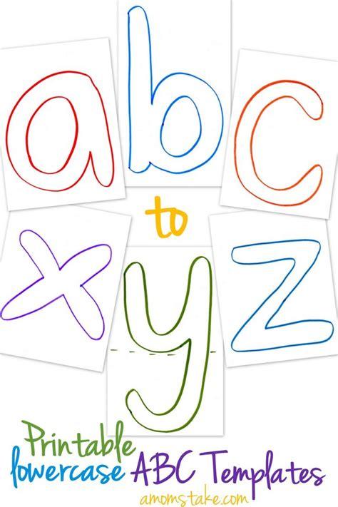 lowercase abc templates  printable printable
