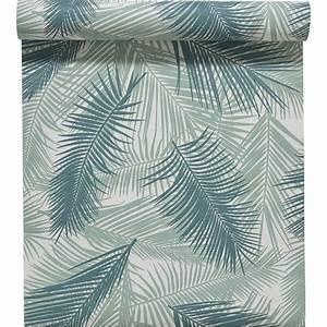 Acheter Feuille De Stratifié à Coller : papier peint intiss feuille de palme vert leroy merlin ~ Premium-room.com Idées de Décoration