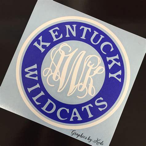 monogrammed kentucky wildcats decal kentucky wildcats