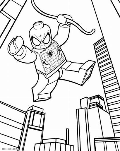 Lego Coloring Pages Spiderman Printable