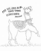 Llama Drawing Coloring Alpaca Printable Lama Adult Dancing Sheets Pencils Colored Colouring Printables Tombowusa Birthday Llamas Tombow Face Usa Funny sketch template