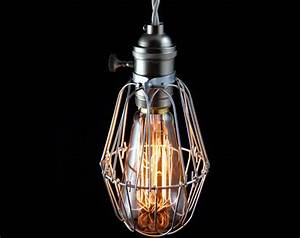 vintage industrial cage light pendant lamp quotpederson With lamp light nashville