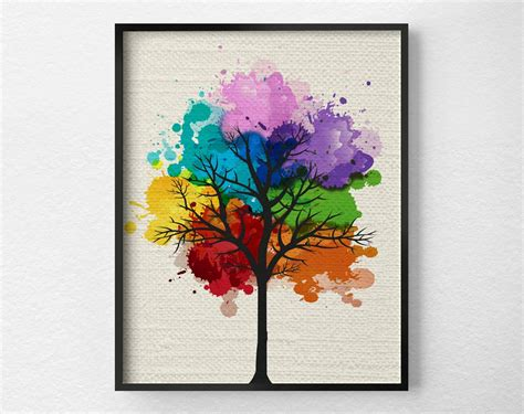 Home Decor Prints : Tree Wall Art Modern Home Decor Tree Print Modern Art