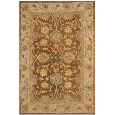 4 Area Rugs by Safavieh Anatolia Brown Ivory 4 Ft X 6 Ft Area Rug