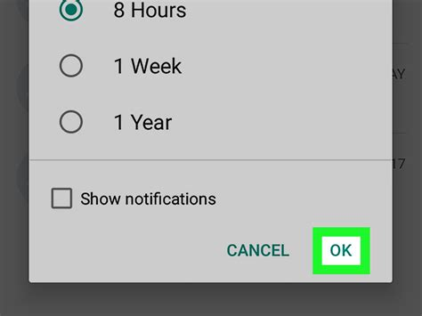 whatsapp chat mute android