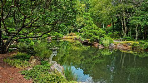 pond background usa park river ground gibbs garden trees nature lake