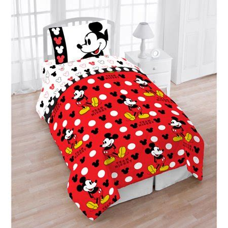 mickey mouse comforter disney mickey mouse 4 character bed set walmart