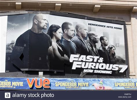 Poster Advertising The Fast And The Furious 7 Starring The
