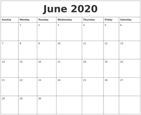 june calendar monthly