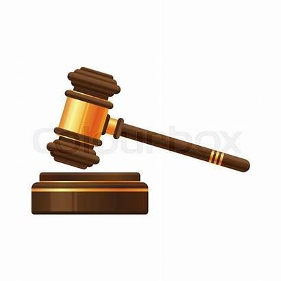 Judge Gavel Hammer Auction Icon Cartoon Mallet
