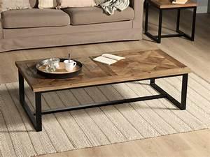 Table Basse Bois Et Metal : chevet metal et bois table basse table pliante et table ~ Dallasstarsshop.com Idées de Décoration