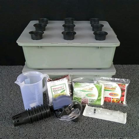 Jual Kit Hidroponik Surabaya jual starter kit hidroponik lengkap 2 baki di lapak