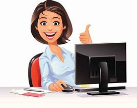 Image result for Office Lady Clip Art