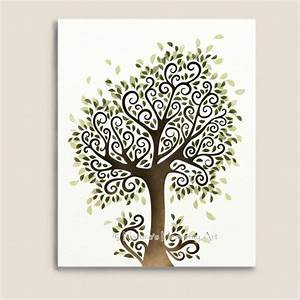 whimsical tree art print nature wall decor fantasy With whimsical tree wall decal ideas for home decor