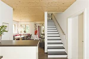 Treppe Im Wohnzimmer : elegant geschlossene treppe haus design ideen ~ Lizthompson.info Haus und Dekorationen