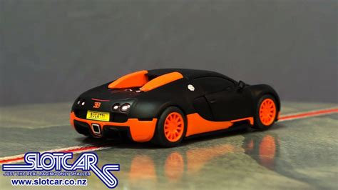 But the bugatti killed all interest in the magnificent talbot, making us feel sorry for its owner. C3661 Scalextric DPR Slot Car Bugatti Veyron Black Orange Slotcar - YouTube