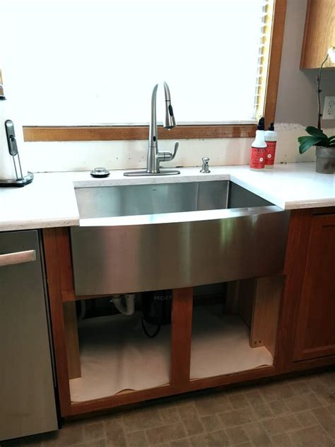 kitchen sink area kitchen remodel update new disposal sink and faucet 2563