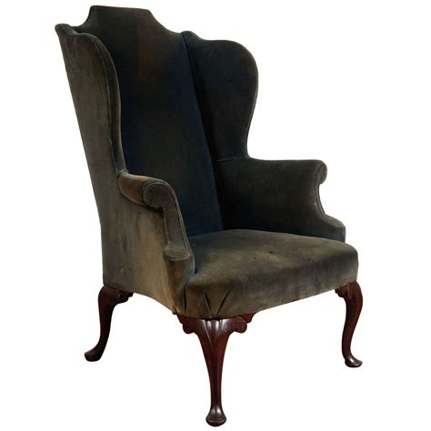 chippendale style wing back arm chair at 1stdibs