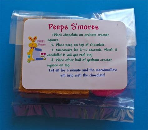 smore peeps  printable labels fits perfectly