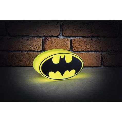 dc comics mini batman logo light bedroom decor