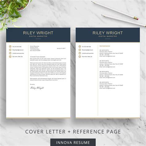 Au final, quel que soit le format choisi, « votre cv doit faciliter la lecture. Modern resume template for Microsoft Word - Innova Resume ...