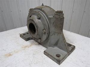Large Cast Iron Split Pillow Block Bearing Housing D U00e9cor Item Vintage Steampunk